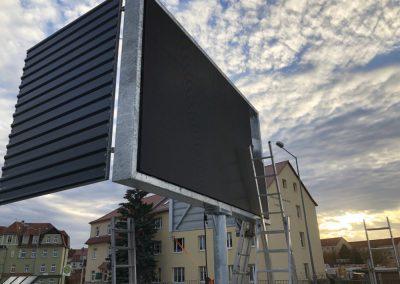 Aufbau LED Werbewand Bautzen