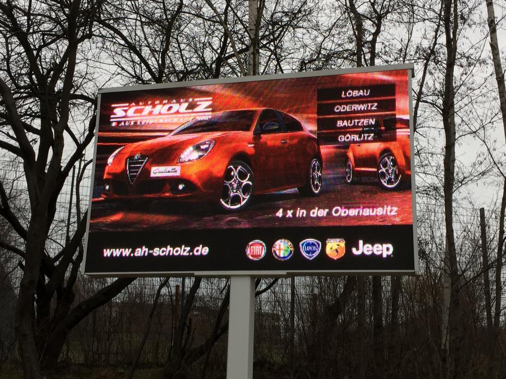 LED Werbewand in Löbau