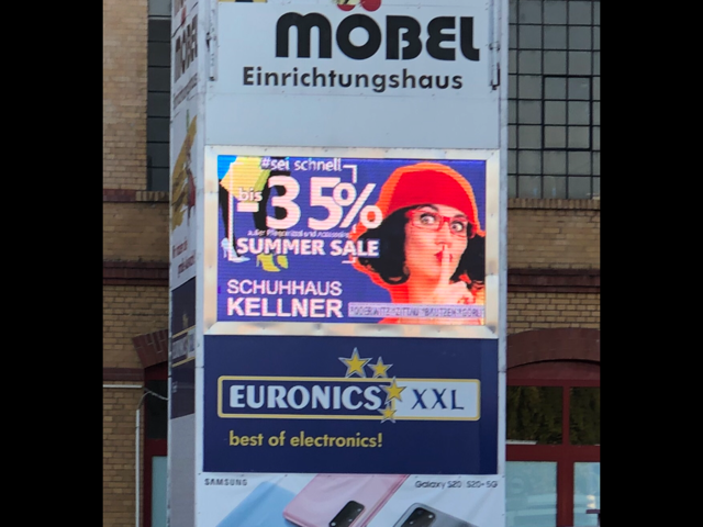 LED Werbewand in Zittau