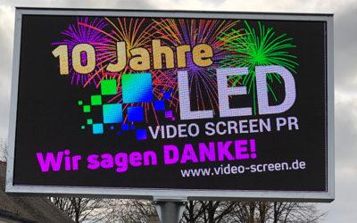 Aufbau der LED Wand in Zittau